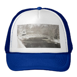 Snow Storm In Somesville Maine Mesh Hats