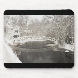 Snow Storm In Somesville Maine Mouse Pads