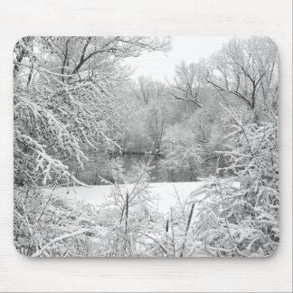 Snow Storm Mouse Pads