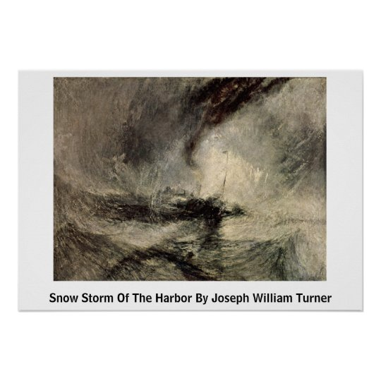 Snow Storm Of The Harbour By Joseph William Turner Poster