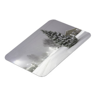 Snow Storm Rectangular Photo Magnet