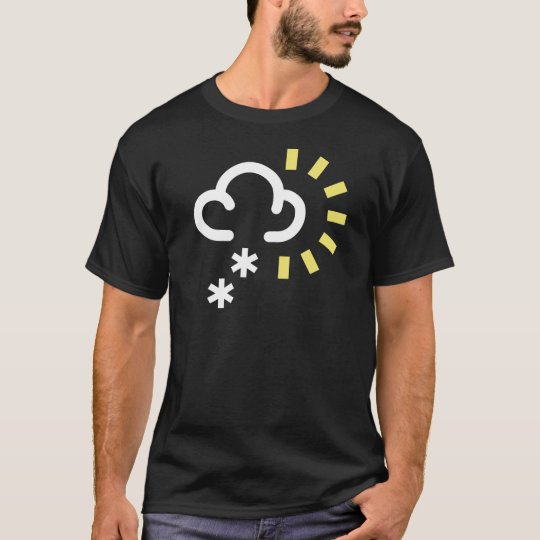 Snow Storm: Retro weather forecast symbol T-Shirt
