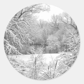 Snow Storm Round Sticker
