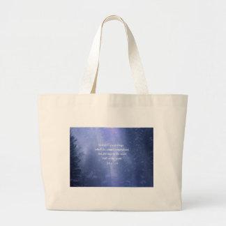 Snow Storm Jumbo Tote Bag