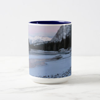 Snow stream, brook and  mountains coffee mugs