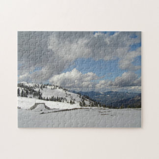 Snow, Sun and the mountains Jigsaw Puzzle