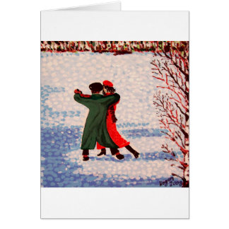 Snow Tango Greeting Card