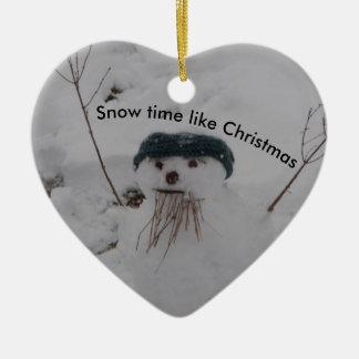 Snow Time Snowman Christmas Ornament