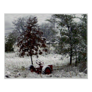 Snow Tractor Posters