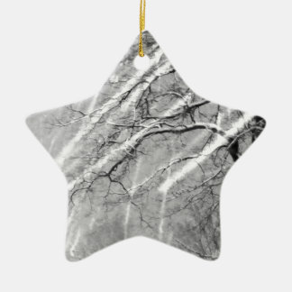 snow trails christmas ornament