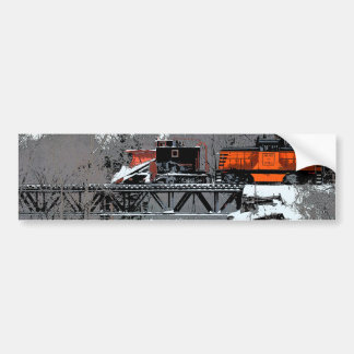 Snow Train Bumper Sticker