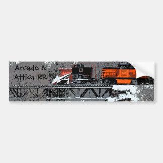 Snow Train (Lettering) Bumper Sticker