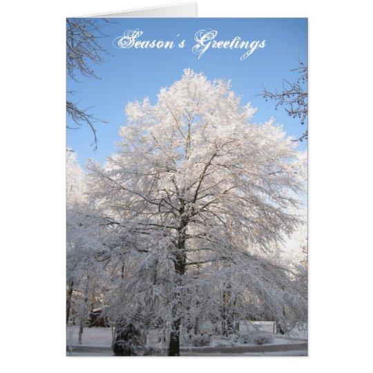 Snow Tree Christmas Card