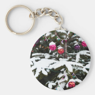 snow tree.jpg keychain