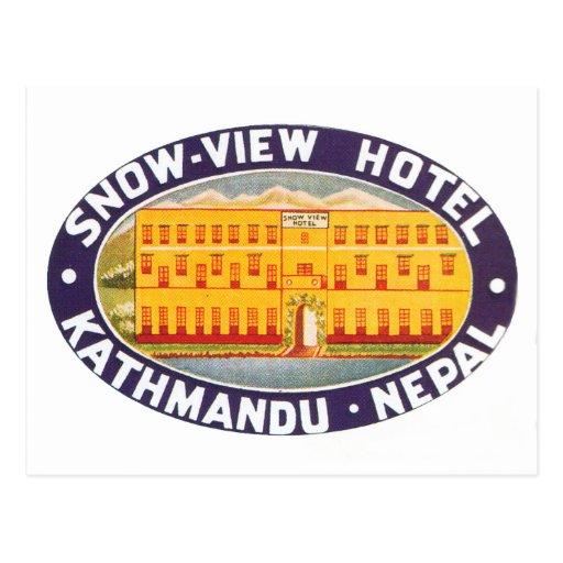 Snow View Hotel Kathmandu Nepal Post Card