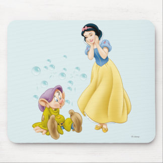 Snow White and Dopey Bubbles Mouse Mat