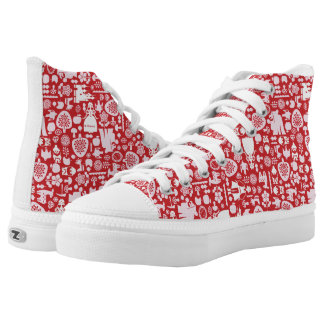 Snow White and Friends Pattern High Tops