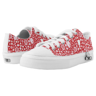 Snow White and Friends Pattern Low Tops