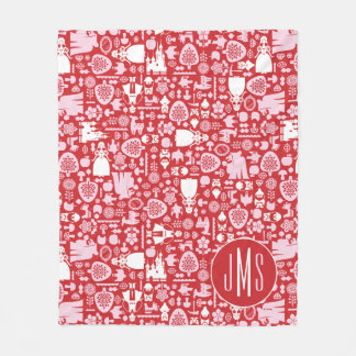 Snow White and Friends Pattern | Monogram Fleece Blanket