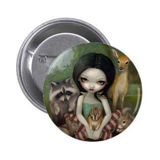 """""""Snow White and Her Animal Friends"""" Button"""