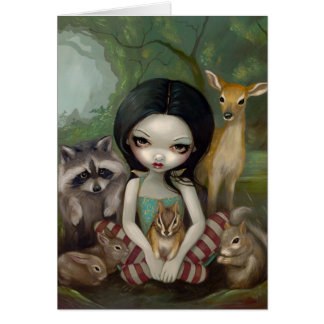 """Snow White and Her Animal Friends"" Greeting Card"