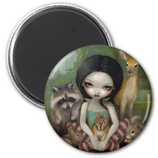 """Snow White and Her Animal Friends"" Magnet"