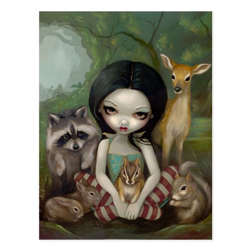 """""""Snow White and Her Animal Friends"""" Postcard"""