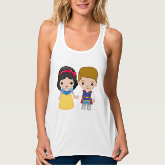 Snow White and Prince Charming Emoji 2 Tank Top