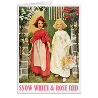 Snow White and Rose Red Card