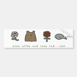 "Snow White and Rose Red ""code"" bumper sticker"