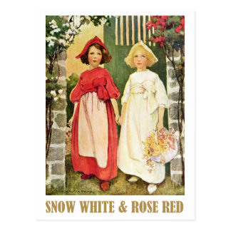 Snow White  and Rose Red Postcard