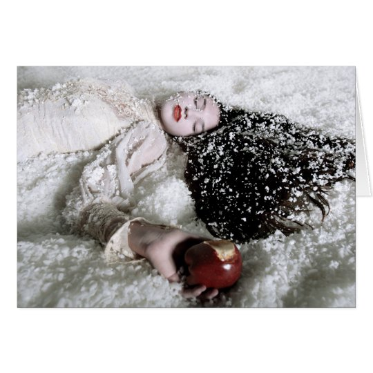 """Snow White and the Poison Apple"" greeting card"
