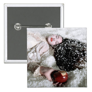 """""""Snow White and the Poison Apple"""" square button"""