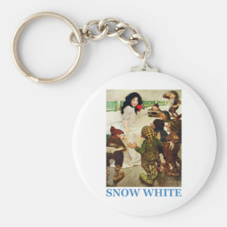 Snow White and The Seven Dwarfs Basic Round Button Key Ring