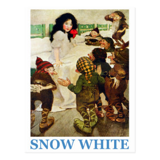 Snow White and The Seven Dwarfs Postcard