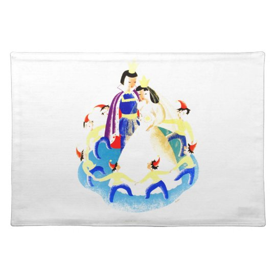 Snow White and the Seven Dwarfs Vintage WPA Print Place Mats
