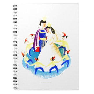 Snow White and the Seven Dwarfs Vintage WPA Print Spiral Notebook