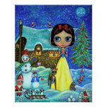 Snow White Christmas Poster