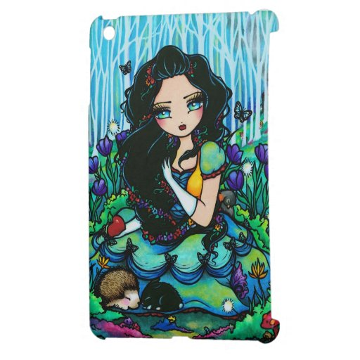 Snow White Forest Animals Apple Girl Fantasy Art iPad Mini Covers