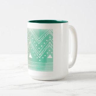 Snow white green winter coffee Mugs