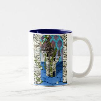 Snow white in winter Two-Tone coffee mug