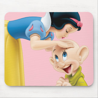 Snow White Kissing Dopey on the Head Mouse Mat