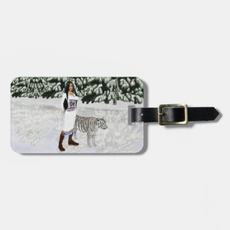 Snow White Tiger Luggage Tag