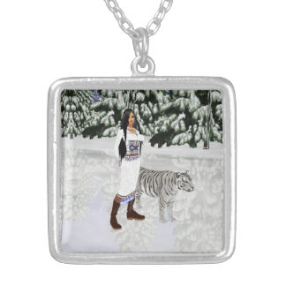 Snow White Tiger Necklace