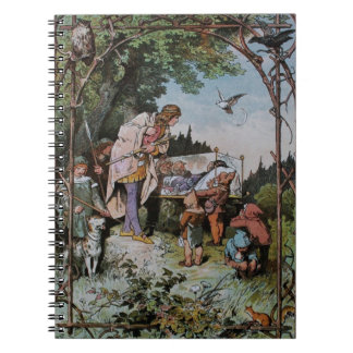 Snow White Waits to be Wakened by the Prince Notebooks