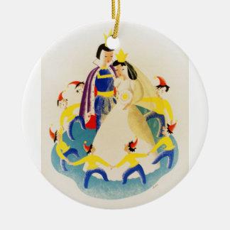 snow white WPA Christmas Ornament