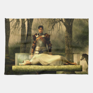 Snow White's Glass Coffin Tea Towel