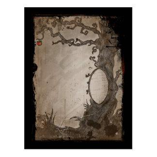 Snow White's Magic Mirror Tree Postcard