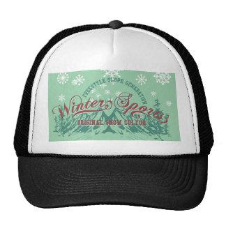 snow winter sports mesh hats