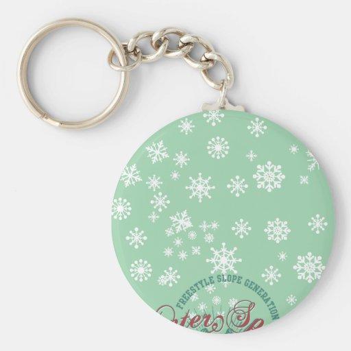 snow winter sports key chains